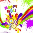 Vector illustration for happy holi celebration — Stock Vector