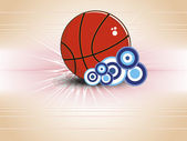 Background with isolated basketball — Stock Vector