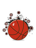 Grungy background with basketball — Stock Vector