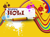 Colorful background for happy holi celebration — Stock Vector