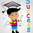 Vetorial Stock : Vector illustration of educational background