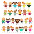 Royalty-Free Stock Imagen vectorial: Vector happy kids