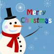Stock Vector: Vector snowman card for christmas