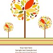 Vector autumn background — Stock Vector
