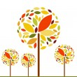 Vector autumn background with tree — Stock Vector