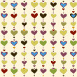 Vector background with hearts - Stock Vector