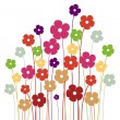 Vector background with flowers - Stock Vector