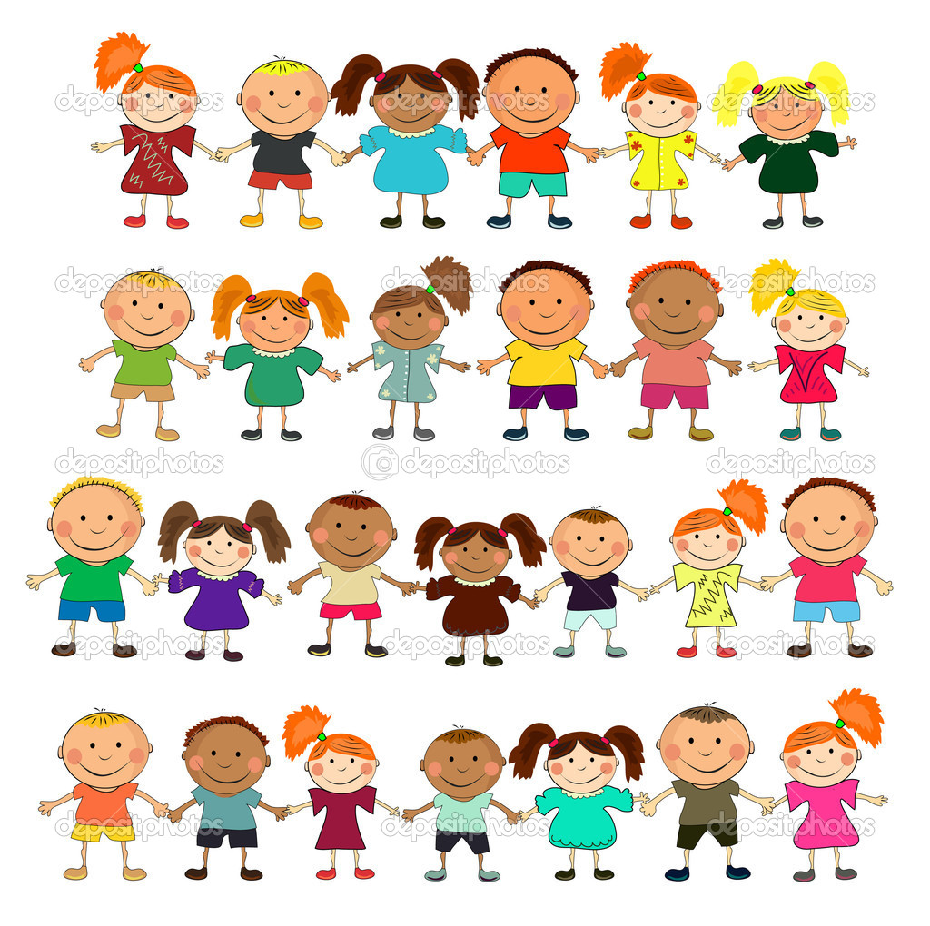 Vector happy kids. — Stock Vector #3714251