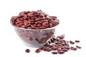 Bowl with haricot bean isolated — Stock Photo