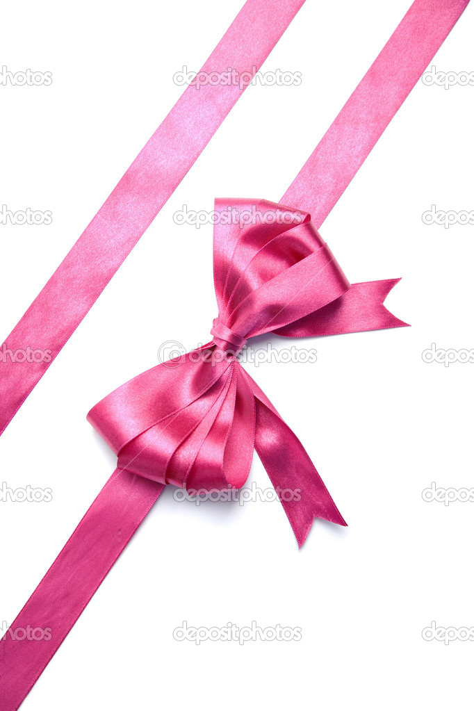 Pink Ribbon With Bow Isolated Stock Photo 169 Duskbabe