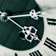Stock Photo: Antique looking clock dial