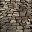 Stock Photo: Aged cobblestone roadway background