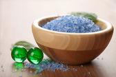 Herbal salt and bath balls — Stock Photo