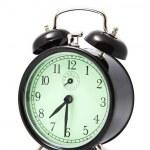 Alarm clock isolated over white — Stock Photo #3527786