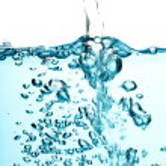 Blue water splash isolated — Stock Photo