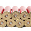 Shotgun cartridges isolated over white — Stock Photo