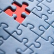 Abstract puzzle background with one missing piece — Stock Photo #3530031