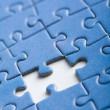 Abstract puzzle background with one piece missing — Stock Photo #3530034