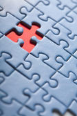 Abstract puzzle background with one missing piece — Stock Photo