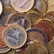Euro coins background — Stock Photo #3565225