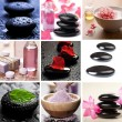 Stock Photo: Spand body care collage