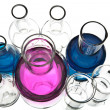 Stock Photo: Chemical laboratory equipment isolated