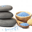 Spa stones and herbal salt — Stock Photo