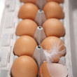 Royalty-Free Stock Photo: Eggs in box