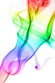 Abstract colorful smoke isolated — Stock Photo