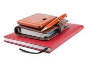 Organizer pen and diary — Stock Photo