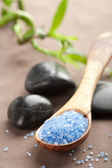 Herbal salt and spa stones — Stock Photo
