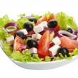 Greek salad isolated - Stock Photo