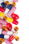 Colorful pills background — Stock Photo