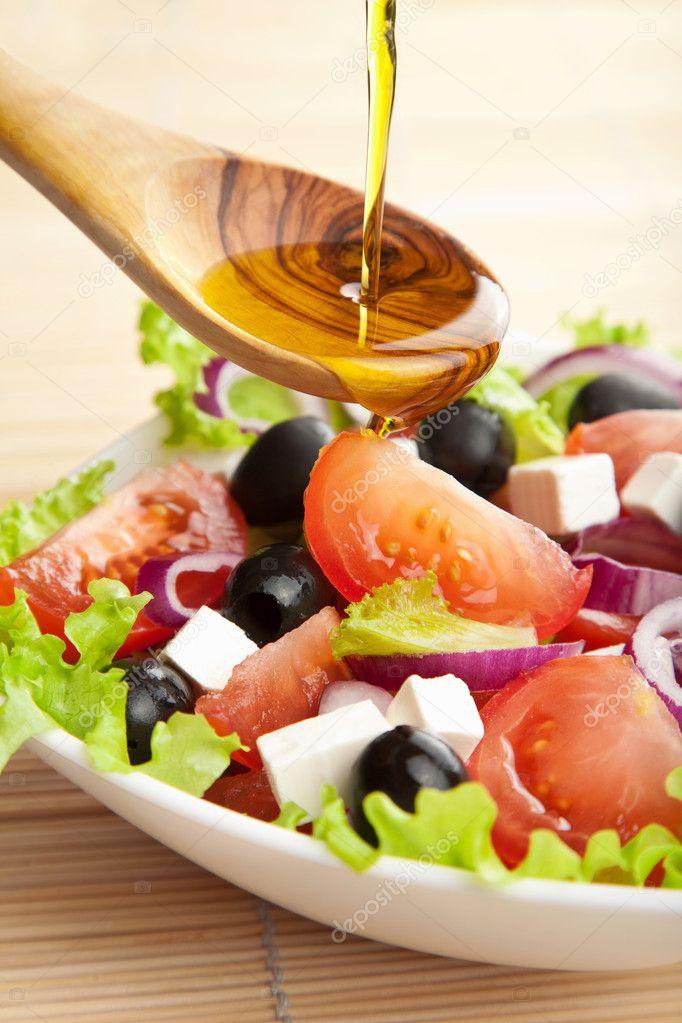 Салаты с оливковым маслом с