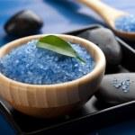 Herbal salt and spa stones — Stock Photo