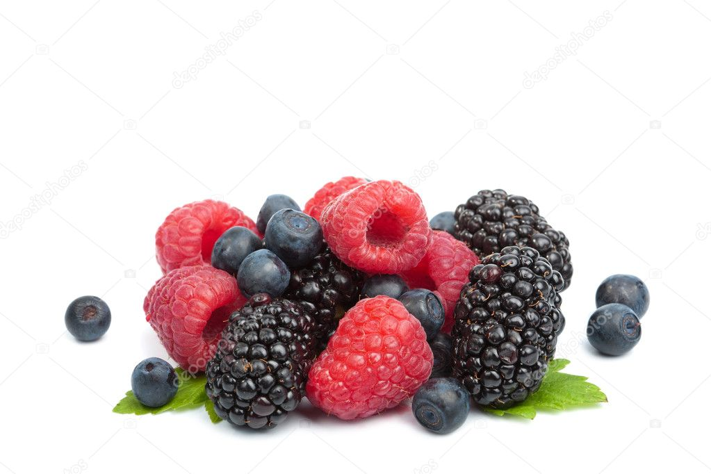 Fresh berries isolated  — Stock Photo #3750286