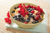 Cereal and wild berries — Stock Photo