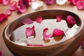 Petals in bowl — Stock Photo