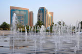 Beautiful fountain. Abu Dhabi — Stock Photo