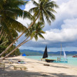 Beautiful white sand beach in Boracay — Stock Photo