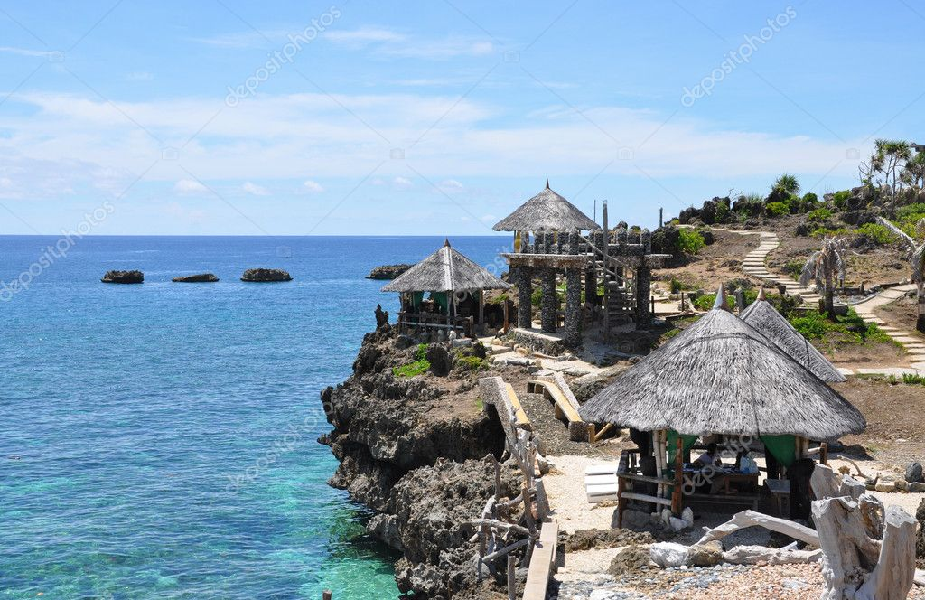 Beautiful park on Crystal cave island. Boracay, Philippines — Stock Photo #3662447
