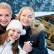 Beautiful women in winter clothing outdoors — Stock Photo