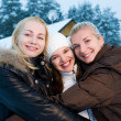 Stock Photo: Beautiful women in winter clothing outdoors