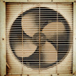 Old dirty ventilation fan - Stock Photo