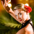 Beautiful young womdancing tango — Stock Photo #4744238