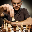 Thoughtful chess master - Stockfoto