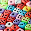 Colorful dices background - 图库照片