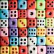 Colorful dices background - Stock Photo