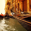 Traditional Venice gondola ride — Foto de Stock