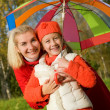 Mother and daughter having fun outdoors — Stock Photo
